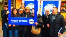 30dicembre2017,aBologna, in piazza Maggiore  L'augurio di Giulio Santagata