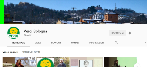NUOVO CANALE YOUTUBEVERDI BOLOGNA per accedere, clicca sul link, qui sotto: https://www.youtube.com/channel/UCkPCviXNFZpDiNDSW3eqlpQ