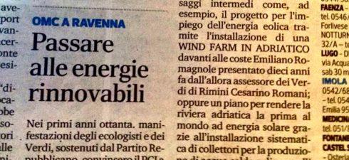 """È ora di passare alle energie rinnovabili: eolico in mare e riviera solare """"Venerdì 29 marzo siamo stati al presidio di Legambiente, in via Gulli, 182 a Ravenna, per ribadire […]"""