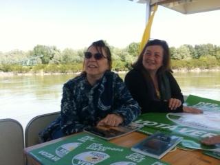 La Conferenza stampa lungo fiume - I Verdi proporranno una ciclabile lungo Po dalla sorgente al mare